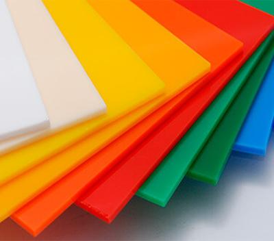 Plancha acrilico en colores